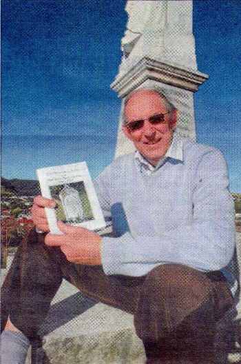 Bruce Murray with the latest booklet about Tawa Cemetery